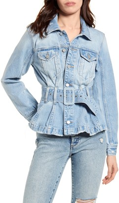 Blank NYC Pleated Denim Trucker Jacket