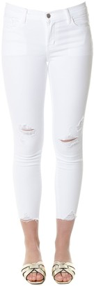 J Brand Capri White Ripped Jeans
