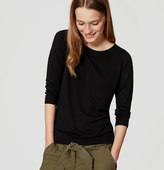 LOFT Petite Button Back Sweater