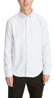 Club Monaco Long Sleeve Jaspe Button Down Shirt