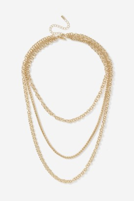 Topshop Layering Mixed Chain Necklace