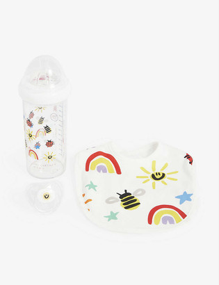 Stella McCartney Rainbow cotton bib set
