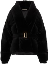 Alexandre Vauthier cropped belted puffer jacket