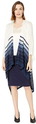 Lauren Ralph Lauren Dip-Dye Striped Kimono (Cream/Navy) Women's Clothing