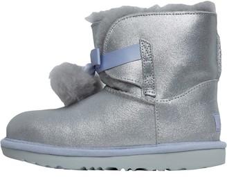 UGG Girls Gita Metallic Boots Silver