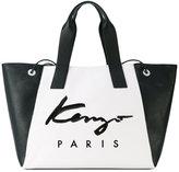 Kenzo Signature tote - women - Cotton/Calf Leather/Polyurethane - One Size