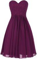 Dresstells® Short Prom Dress with Applique Woman's Chiffon Party Dress