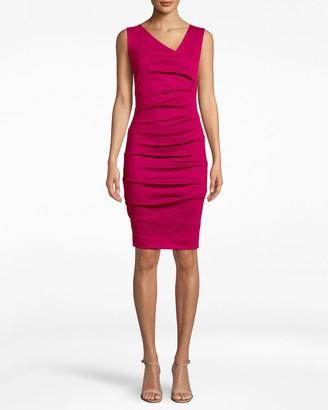 Nicole Miller Ponte Asymmetrical Dress