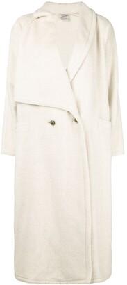 Versace Pre-Owned Asymmetric Lapels Long Coat