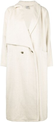 Versace Pre Owned asymmetric lapels long coat