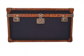 Carter Sinclair Vintage Leather And Fabric Trunk/coffee Table