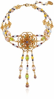 Ben-Amun Jewelry Boheme Collection Hand Made in New York Fashion Gold Plated Necklace Earrings and Bracelet