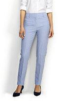 Classic Women's Petite Wear to Work Slim Leg Pants-Sail Blue Stripe