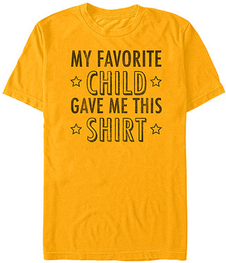 Fifth Sun Men's Tee Shirts GOLD - Gold 'Favorite Child' Crewneck Tee - Men