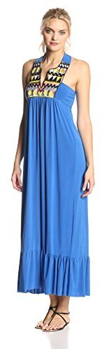 T-Bags Tbags Los Angeles Women's Embroidered Maxi Dress