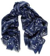 Black Sabatini Wool and Silk Scarf