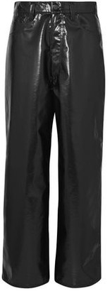 Facetasm Cropped Vinyl Straight-leg Pants