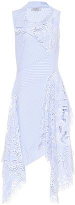 Monse Striped cotton midi dress