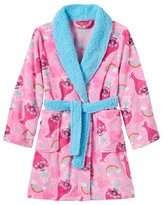 DreamWorks Trolls Girls Bathrobe Poppy Faux Fur Fleece Bath Robe