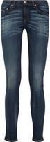 Rag & bone JEAN Faded low-rise skinny jeans