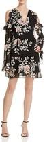 GUESS Luba Cold Shoulder Floral Dress
