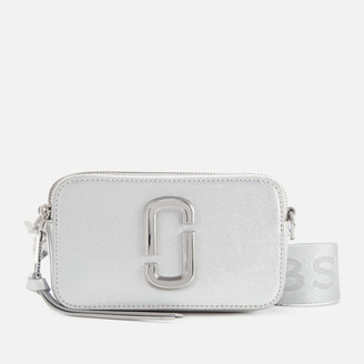 Marc Jacobs Women's Snapshot DTM Metallic Cross Body Bag - Silver