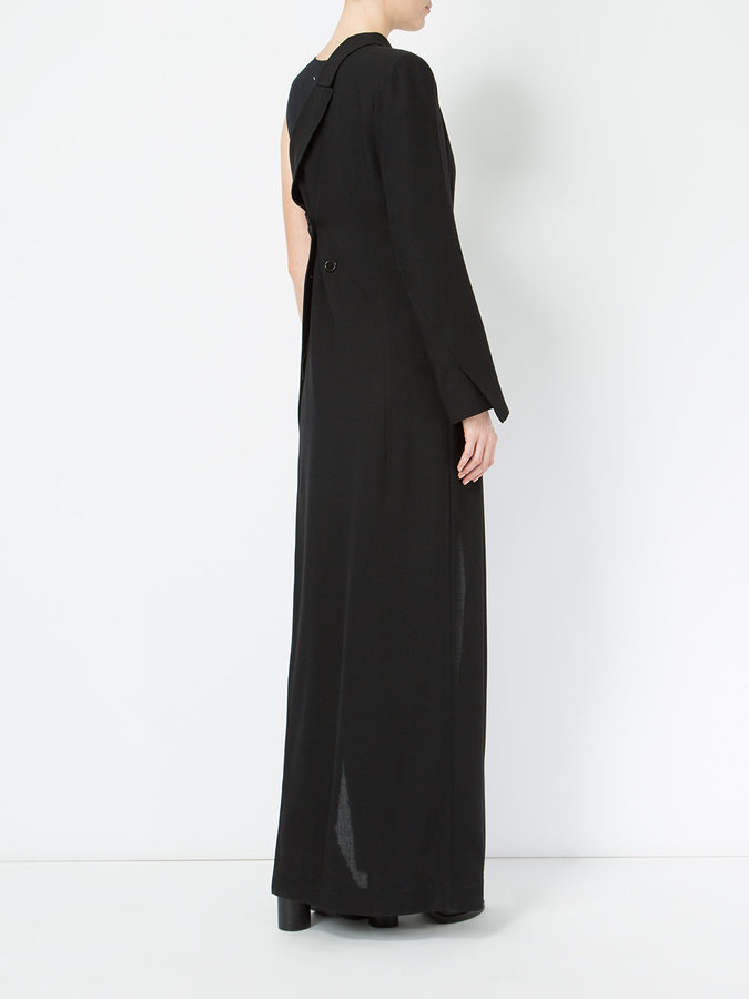 Ann Demeulemeester double breasted one shoulder dress