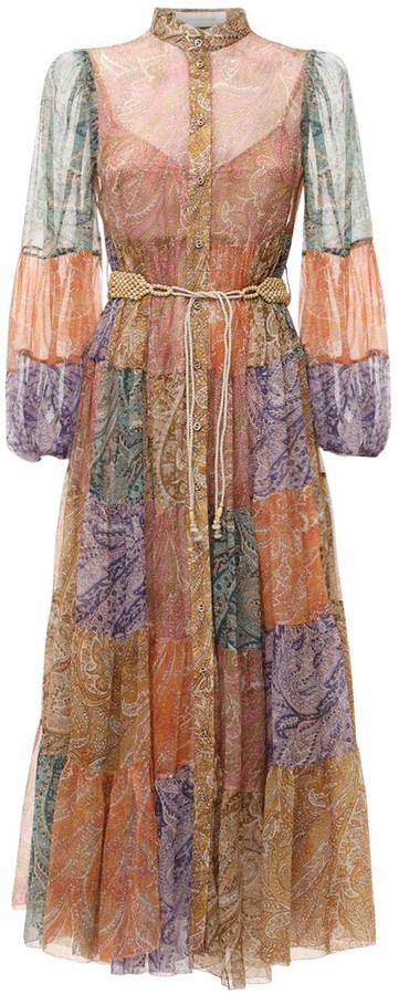 Thumbnail for your product : Zimmermann Brighton Hanky Hem Chiffon Midi Dress