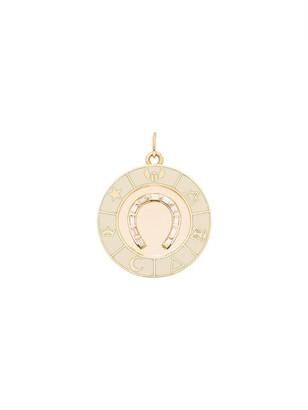 Foundrae 18kt Yellow Gold Diamond Encrusted Horseshoe Charm