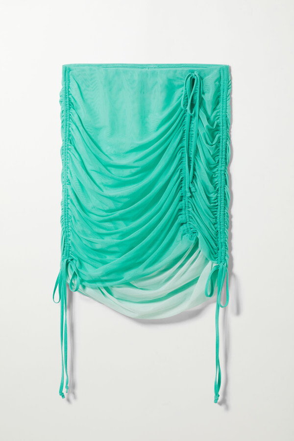 Thumbnail for your product : Weekday Breeze Mesh Skirt - Turquoise