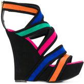 Balmain Inti Suede wedge sandals - women - Leather - 36