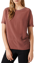 Jigsaw Front Panel T-Shirt, Clay Pink