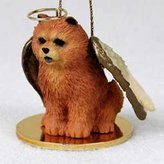 Conversation Concepts Chow Chow Angel Dog Ornament - Red