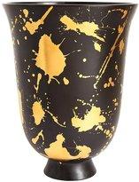 Jonathan Adler Jackson Futura Vase, Black & Gold