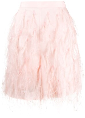 Emilio Pucci Feather Embroidery Shorts