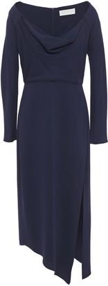 Mason by Michelle Mason Asymmetric Draped Cady Midi Dress