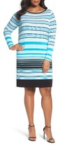 MICHAEL Michael Kors Plus Size Women's Abbey Stripe Boatneck Jersey Shift Dress