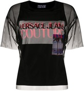 Versace sheer layered T-shirt