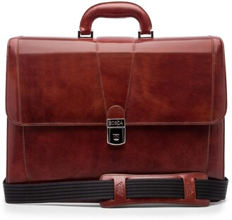 Bosca Leather Double Gusset Briefcase