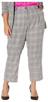 Vince Camuto Specialty Size Plus Size Colorful Glen Plaid Ankle Pants (Lime Chrome) Women's Casual Pants