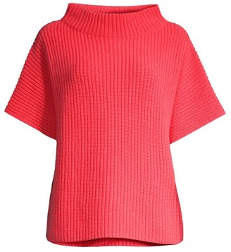 Peserico Funnelneck Short Sleeve Sweater