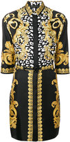 Versace Signature print shirt dress - women - Silk - 40