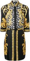 Versace Signature print shirt dress