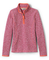 Lands' End Girls Sweater Fleece Popover-Capri Seas