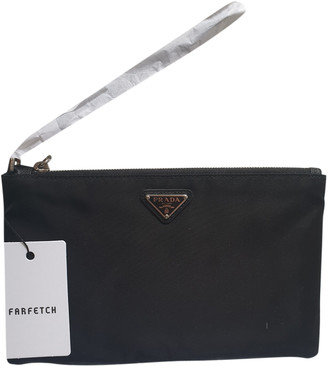 Prada Re-Nylon Black Cloth Clutch bags