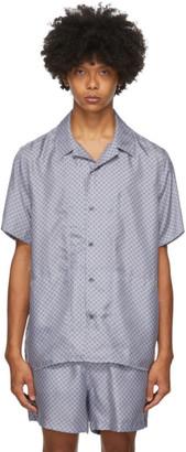 Tiger of Sweden SSENSE Exclusive Blue Riccerde Short Sleeve Shirt