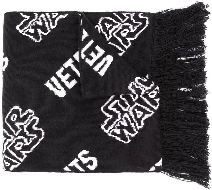 Vetements x star wars fringed logo scarf