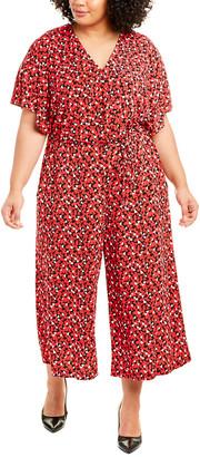 London Times Plus Kimono Wrap Jumpsuit