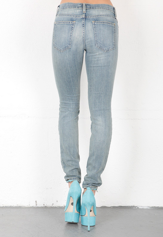 Current/Elliott The Ankle Skinny in Driftwood Destroy