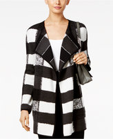 Alfani Patterned Open-Front Cardigan, Only at Macy's